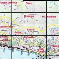 Rijeka térkép
