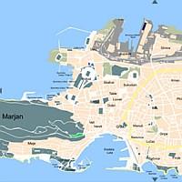 Split térkép